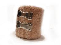 brązowy bandaż z zapinką