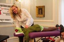 masażystka, pacjent